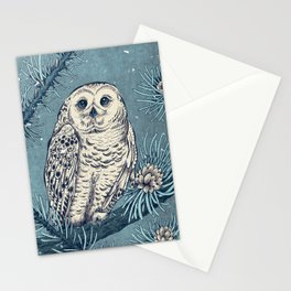 Winter Snowy Owl Stationery Cards