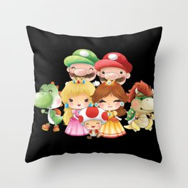 Black Plumber's collection Throw Pillow