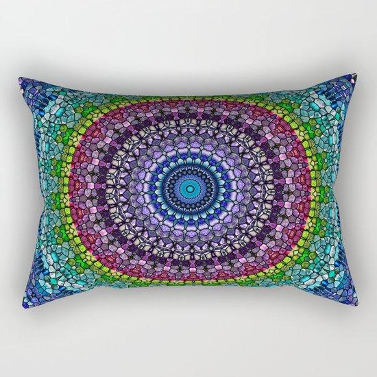Magical Gems Kaleidoscope Rectangular Pillow