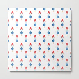 Popsicle Pattern - Rocket Pop #134 Metal Print