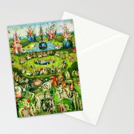 The Garden of Earthly Delights Triptych by Hieronymus Bosch Stationery Cards