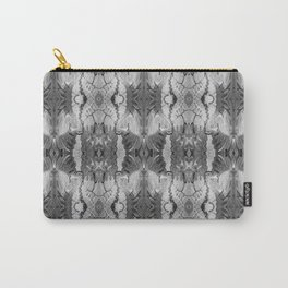 B&W Open Your Eyes Patterned Image Carry-All Pouch