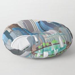 Toronto Skyline wide Floor Pillow
