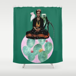 When Frida steals the show Shower Curtain
