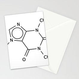 Molecular Structure of Caffeine Stationery Cards