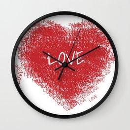 mio cuore Wall Clock