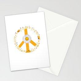 Daisy Peace Sign Stationery Cards