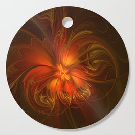 Burning, Abstract Fractal Art With Warmth Cutting Board