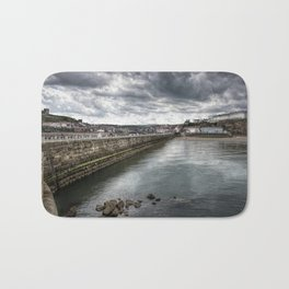Stormy Skies Over Whitby Bath Mat