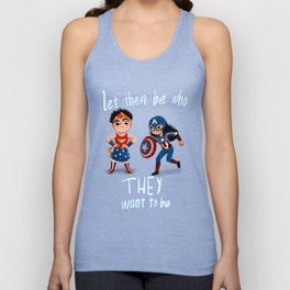 Let them be who they want to be Unisex Tank Top