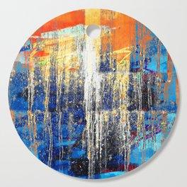 Golden Dawn, Abstract Landscape Art Cutting Board