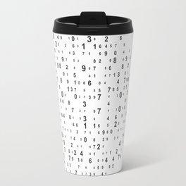Background of figures Travel Mug