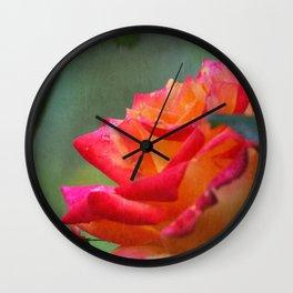 Rose Vintage Wall Clock