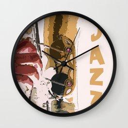 Jazz Saxophone Illustration Wall Clock