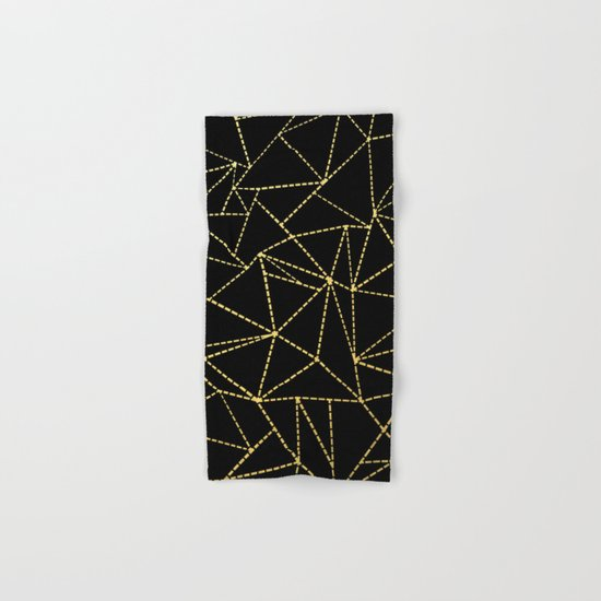 Ab Dotted Gold Hand & Bath Towel
