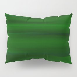 Emerald Green and Black Abstract Pillow Sham