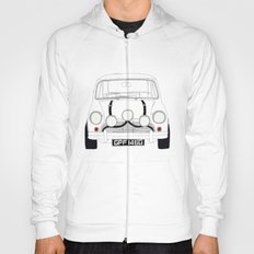 The Italian Job White Mini Cooper Hoody