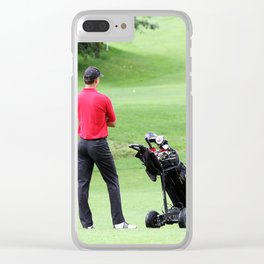 The golfer Clear iPhone Case