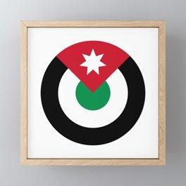 Roundel of Royal Jordanian Air Force  Framed Mini Art Print