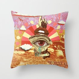 AFTERNOON PSYCHEDELIA REDUX Throw Pillow