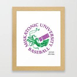 Miskatonic University Baseball Team Framed Art Print