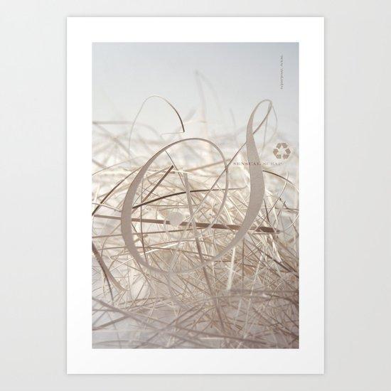 Sensual Scrap Art Print