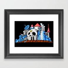 Dr. Wily's Castle Framed Art Print