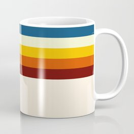 Never-ending Summer Time Retro Stripe Coffee Mug