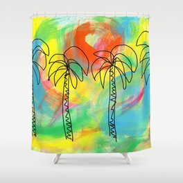 Palm Trees Wish You the Best Shower Curtain