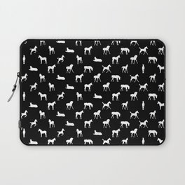 Foals All Over Pattern White Laptop Sleeve