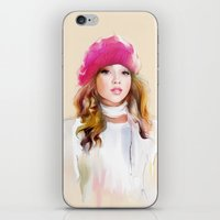 red riding hood iPhone & iPod Skins featuring  red riding hood by tatiana-teni