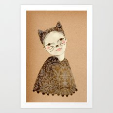 Kiki Kitty Art Print