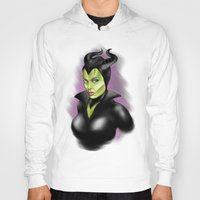 maleficent Hoodies featuring Maleficent by BaronDzines