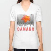 velvet underground V-neck T-shirts featuring Velvet Autumn by digital2real