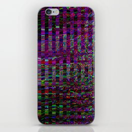 Digital pixel noise abstract design. iPhone Skin