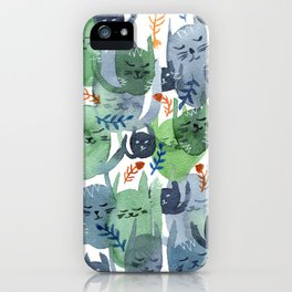 A Quiet Cacophony of Cats iPhone Case