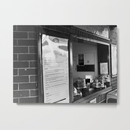 Cafe Menu And Window Metal Print