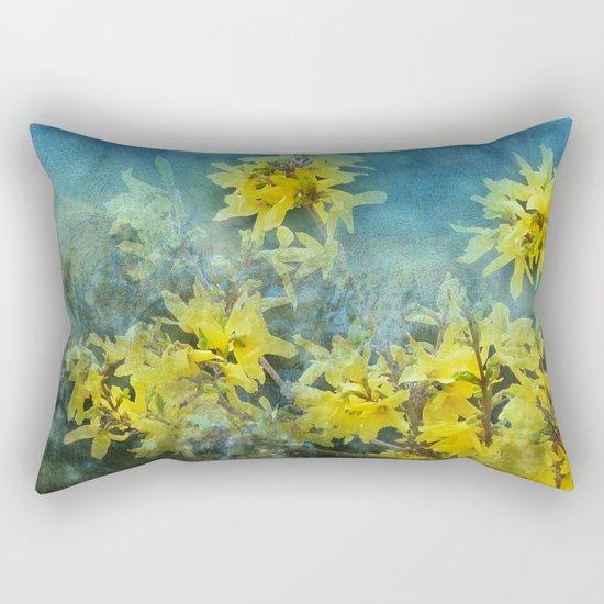 Dramatic Forsythia Rectangular Pillow