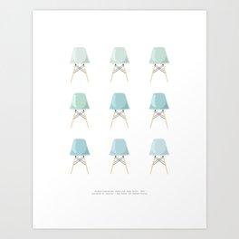 Mint Chairs Art Print