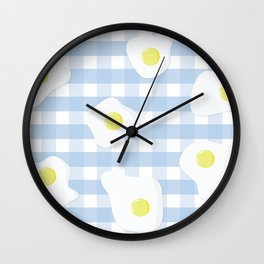 Sunny Side Up + Gingham Wall Clock