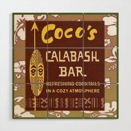 Tiki Art - Coco's Calabash Bar Wood Wall Art
