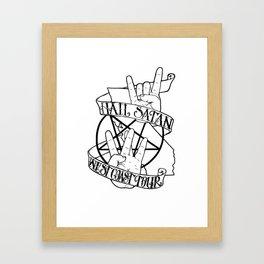 Hail Satan: West Coast Tour Framed Art Print