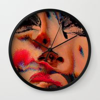 hologram Wall Clocks featuring The Betrayal by Luc Étrier