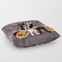 halloween cats Floor Pillow