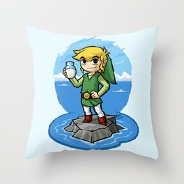 Legend of Zelda Wind Waker Bottle of Milk T-Shirt Throw Pillow