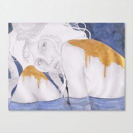 octopus girl  Canvas Print