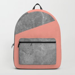 Coral Pink Concrete Backpack