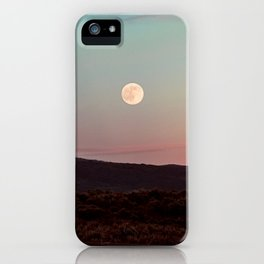 Moon Over Grand Teton iPhone Case