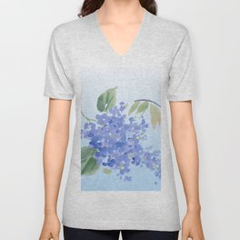 blue lilac Unisex V-Neck