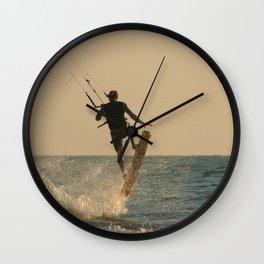 Kite Surfer Jumping Mandrem Wall Clock